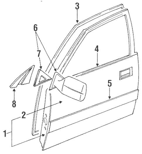 Genuine OEM Door & Components Parts for 1994 Toyota Land