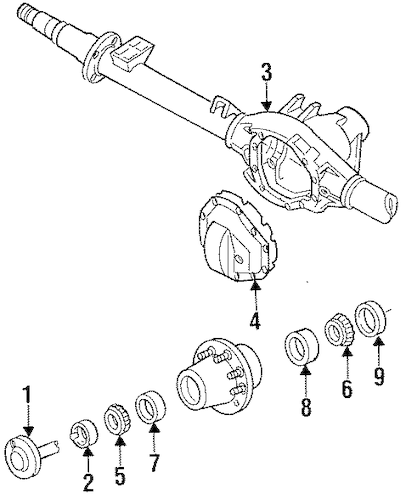 AXLE HOUSING for 1996 Ford F-250
