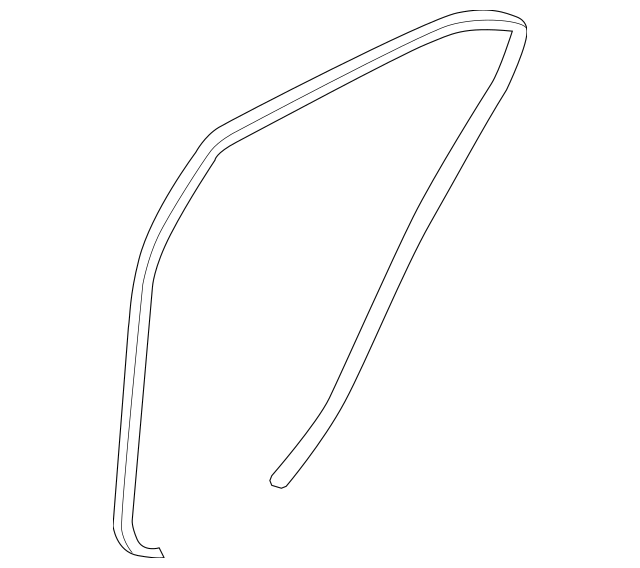 2013-2015 Kia Optima Body Weather-Strip 83120-4C010