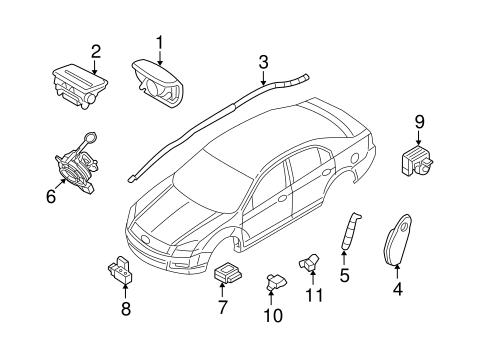 AIR BAG COMPONENTS for 2011 Ford Fusion