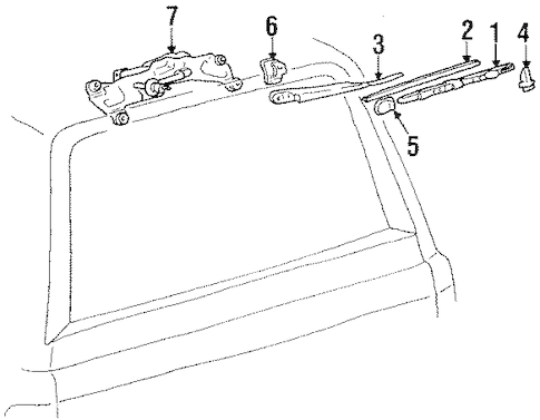 Genuine OEM REAR WIPER COMPONENTS Parts for 1990 Toyota