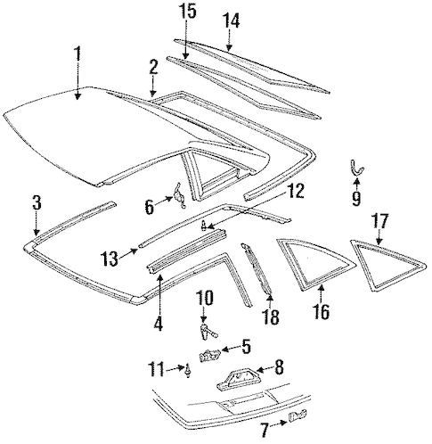 REMOVABLE HARD TOP Parts for 1992 Cadillac Allante
