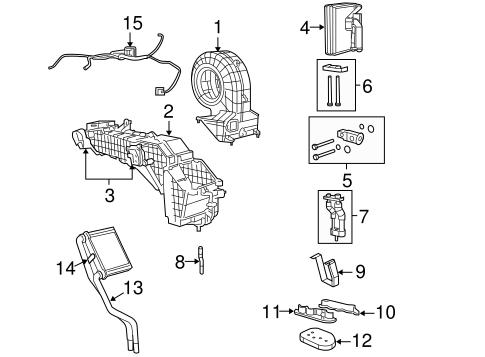 Evaporator & Heater Components for 2008 Dodge Durango