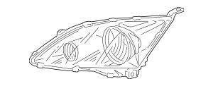 2007-2011 Honda CR-V 5-DOOR Headlight Unit, R 33101-SWA
