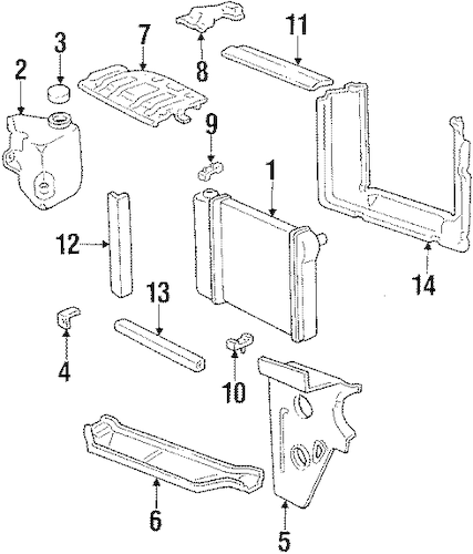RADIATOR & COMPONENTS for 1987 Chevrolet Chevette