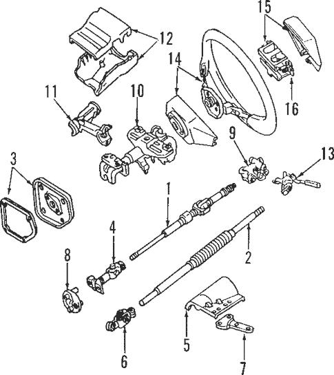 Steering Column for 1994 Toyota Land Cruiser