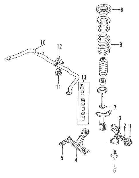 Suspension Components for 2004 Chevrolet Cavalier
