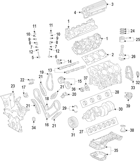 Genuine OEM Engine Parts for 2008 Toyota Tundra Base