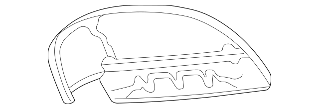 Genuine OEM 1999-2004 Chrysler 300M Air Deflector 4805052