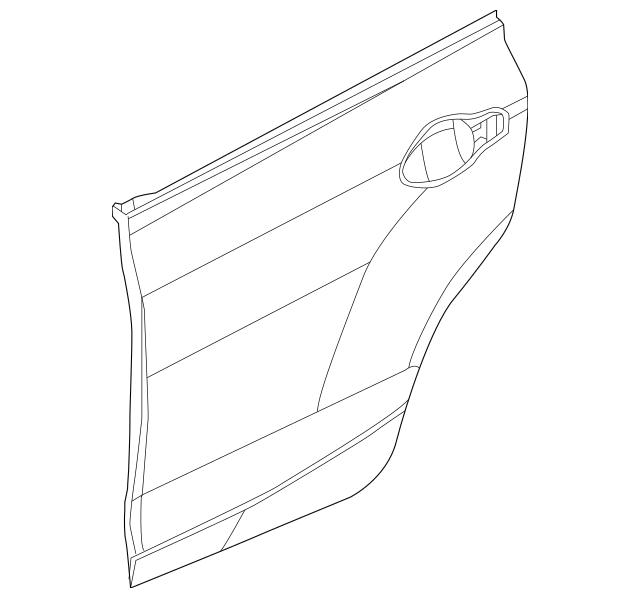 Discount Genuine OEM 2012-2015 Honda Skin Set, L Rear Door
