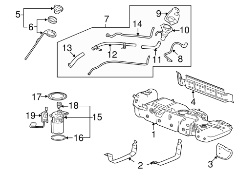 OEM Fuel System Components for 2010 Cadillac Escalade
