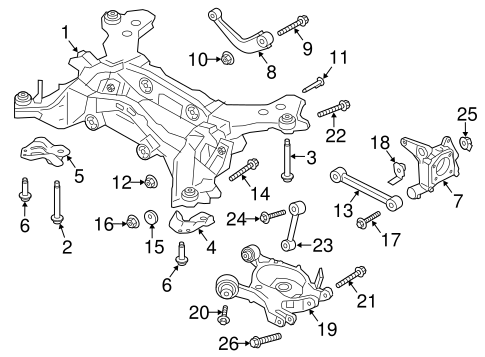 Trailing Arm for 2013 Ford Fusion|DG9Z-5K898-A : Quirk