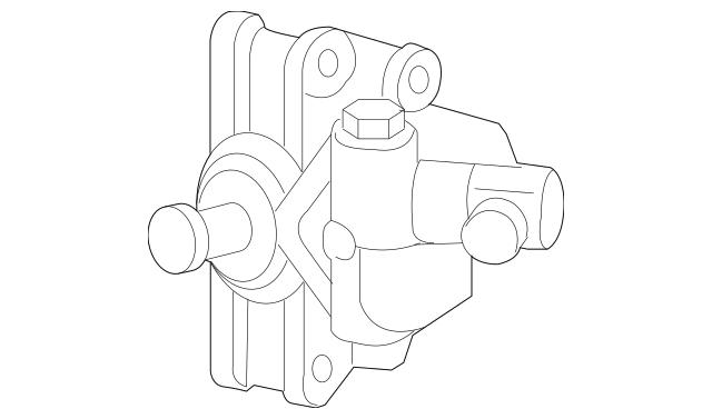 2001-2009 Mazda B2300 Power Steering Pump 1F70-32-600R-00