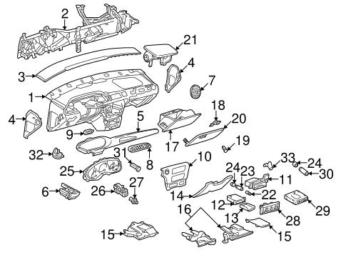 OEM Instrument Panel for 2002 Chevrolet Malibu