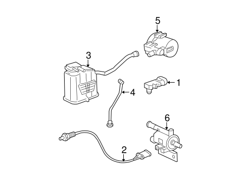EMISSION COMPONENTS for 2007 Chevrolet Malibu