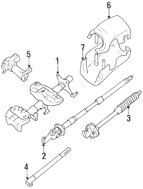 Genuine OEM Steering Column Components Parts for 1994