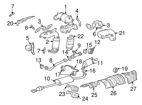 Genuine OEM Exhaust Manifold Parts for 2007 Toyota