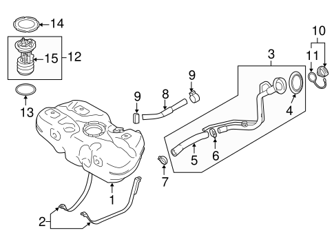 FUEL SYSTEM COMPONENTS for 2014 Nissan Versa Note