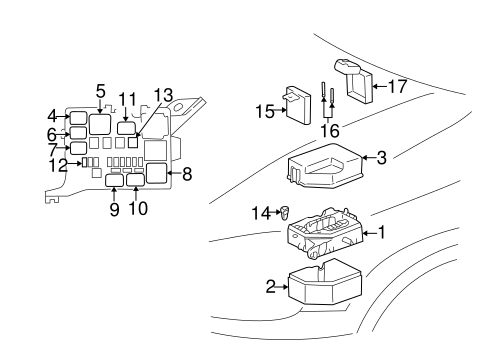 Electrical Components for 2000 Toyota Echo