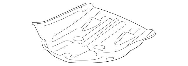 2010-2012 Honda CROSSTOUR 5-DOOR Pan, Spare Tire 65550-TP6