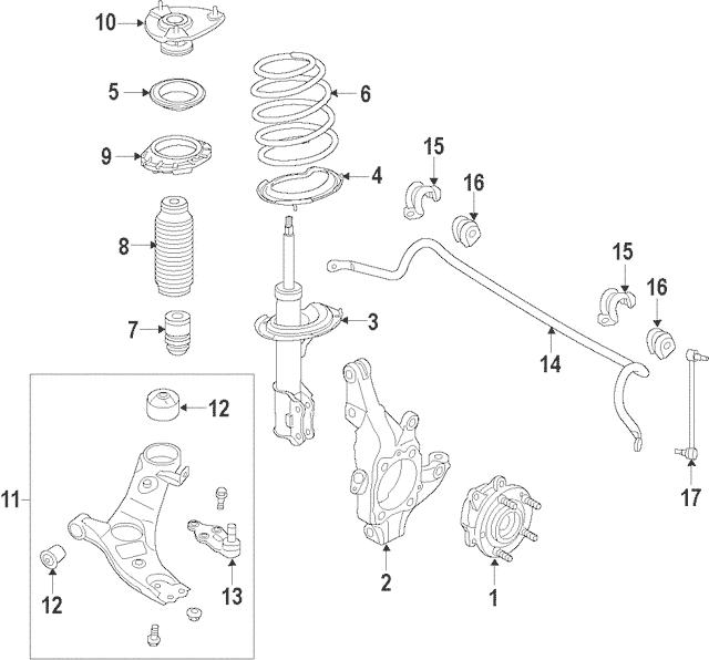 2013-2018 Hyundai Santa Fe Sport Insulator Assembly-strut