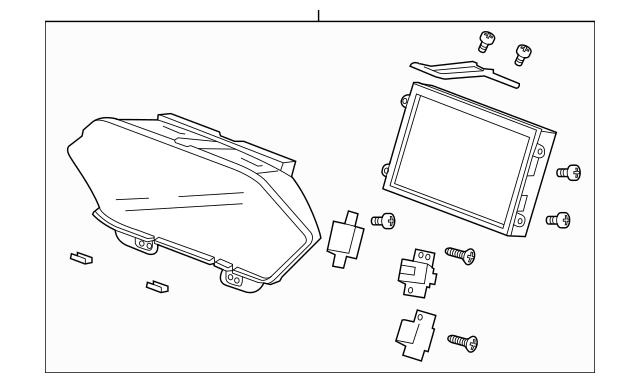 Genuine 2011-2013 Honda ODYSSEY 5-DOOR Display Assembly