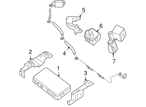 Communication System Components for 2007 Nissan Altima