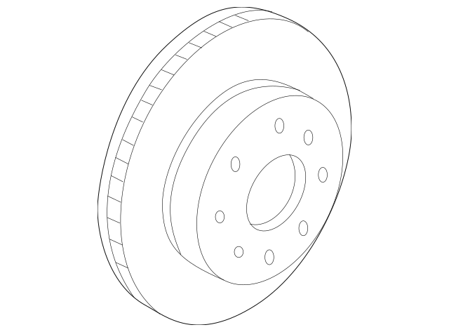2004-2008 Acura TL SEDAN Disk, Front Brake (17