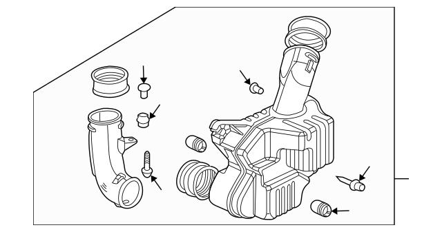 2006-2007 Honda Chamber Assembly, Resonator 17230-RCA-A10