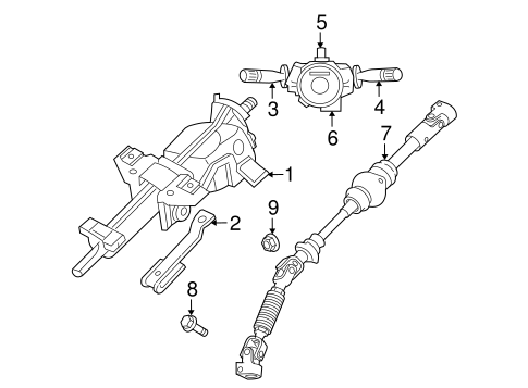Steering Column Assembly for 2005 Jeep Grand Cherokee