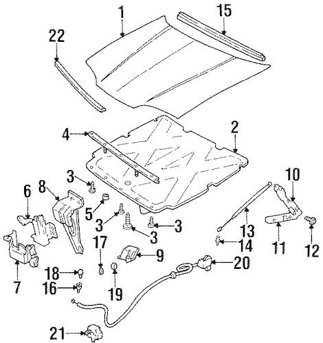 OEM 1999 Chevrolet Lumina Hood & Components Parts