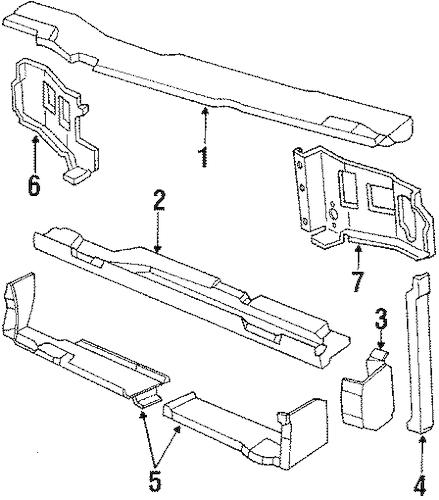 RADIATOR SUPPORT for 1990 Chevrolet Cavalier