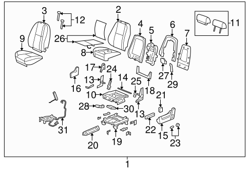 OEM Front Seat Components for 2014 GMC Yukon XL 1500