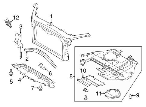 Radiator Support for 2010 Ford Fusion