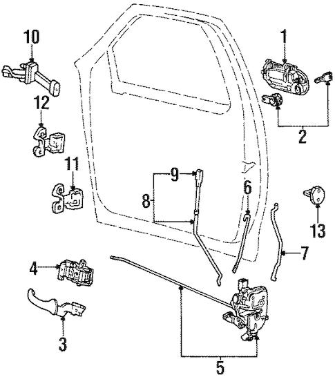 Lock & Hardware for 1998 Lincoln Navigator
