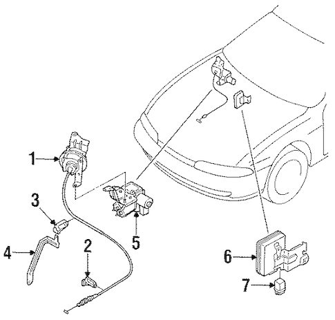 ANTI-THEFT COMPONENTS for 1995 Nissan 240SX