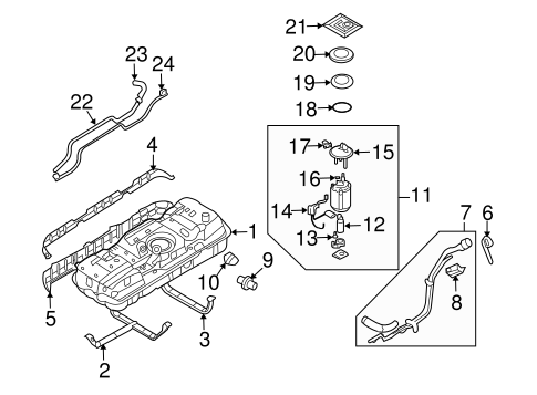 FUEL SYSTEM COMPONENTS for 2007 Hyundai Entourage
