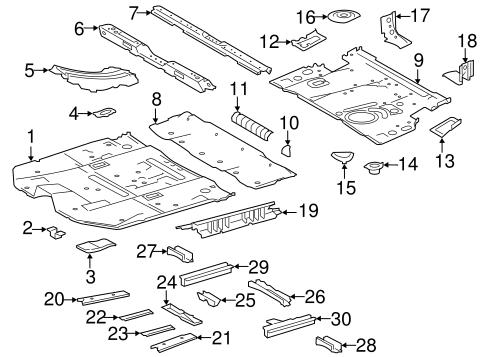 Genuine OEM Floor & Rails Parts for 2015 Toyota Highlander