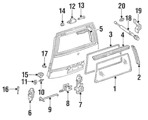 OEM 1992 Pontiac Trans Sport Liftgate Parts