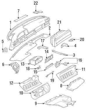 Instrument Panel for 1988 Mercedes-Benz 560 SL