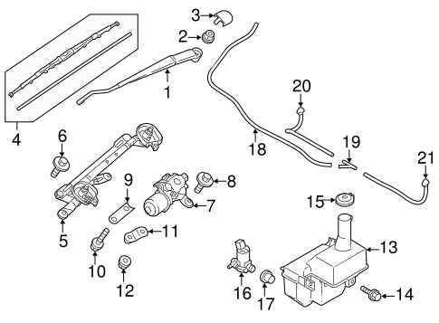 Wiper & Washer Components for 2014 Mitsubishi Mirage
