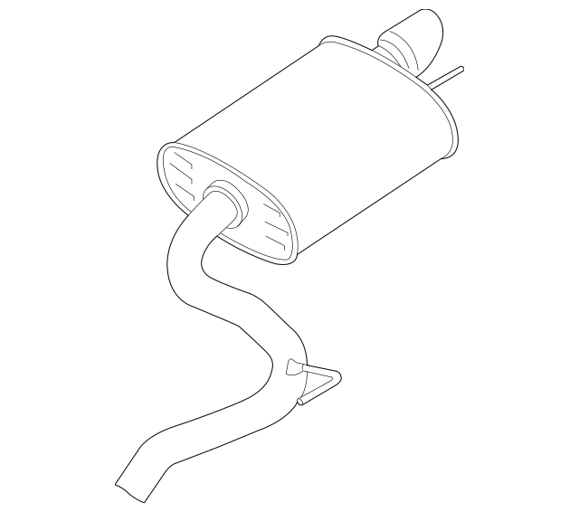 Buy this Genuine 2018-2019 Ford Mustang Muffler And Pipe