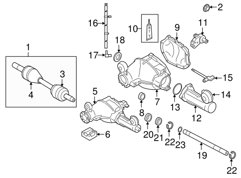 Front Axle & Carrier for 2008 Jeep Grand Cherokee Parts
