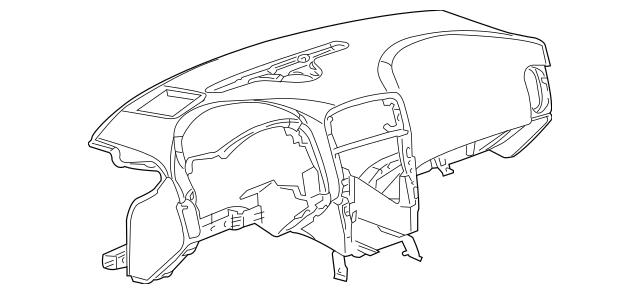 2009-2010 Chevrolet Corvette Instrument Panel 20945490