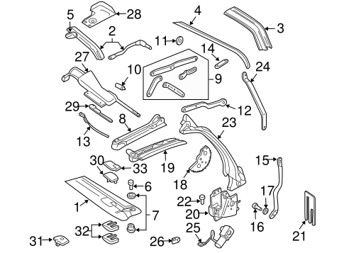 OEM 1998 Chevrolet Cavalier Frame & Components Parts