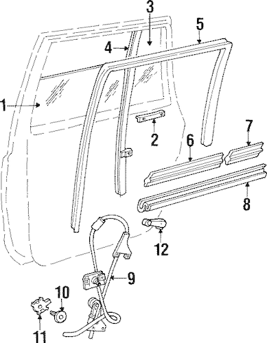 REAR DOOR for 2000 Jeep Cherokee