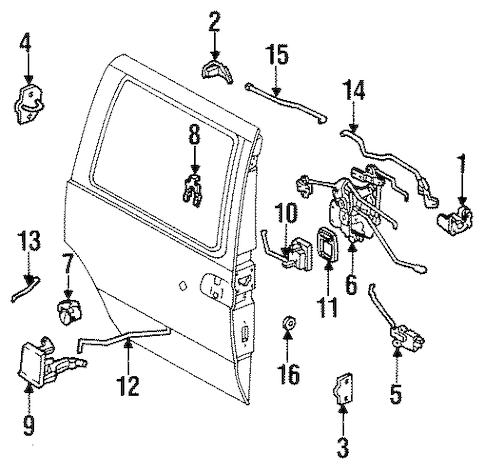 Hardware for 1993 Mercury Villager