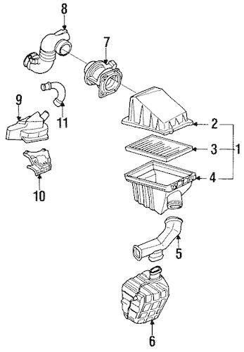 Air Intake for 1991 Nissan Sentra