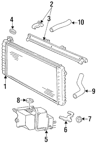 RADIATOR & COMPONENTS for 1991 Chevrolet Lumina