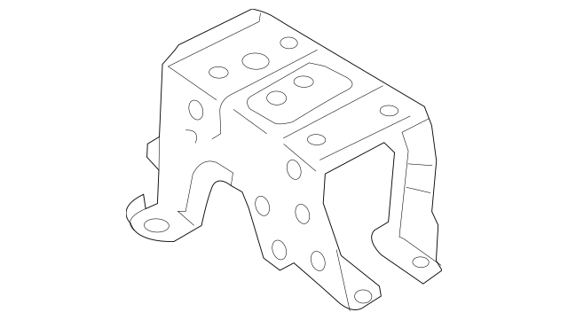 2014-2020 Mitsubishi Console Base Rear Bracket 8011A987